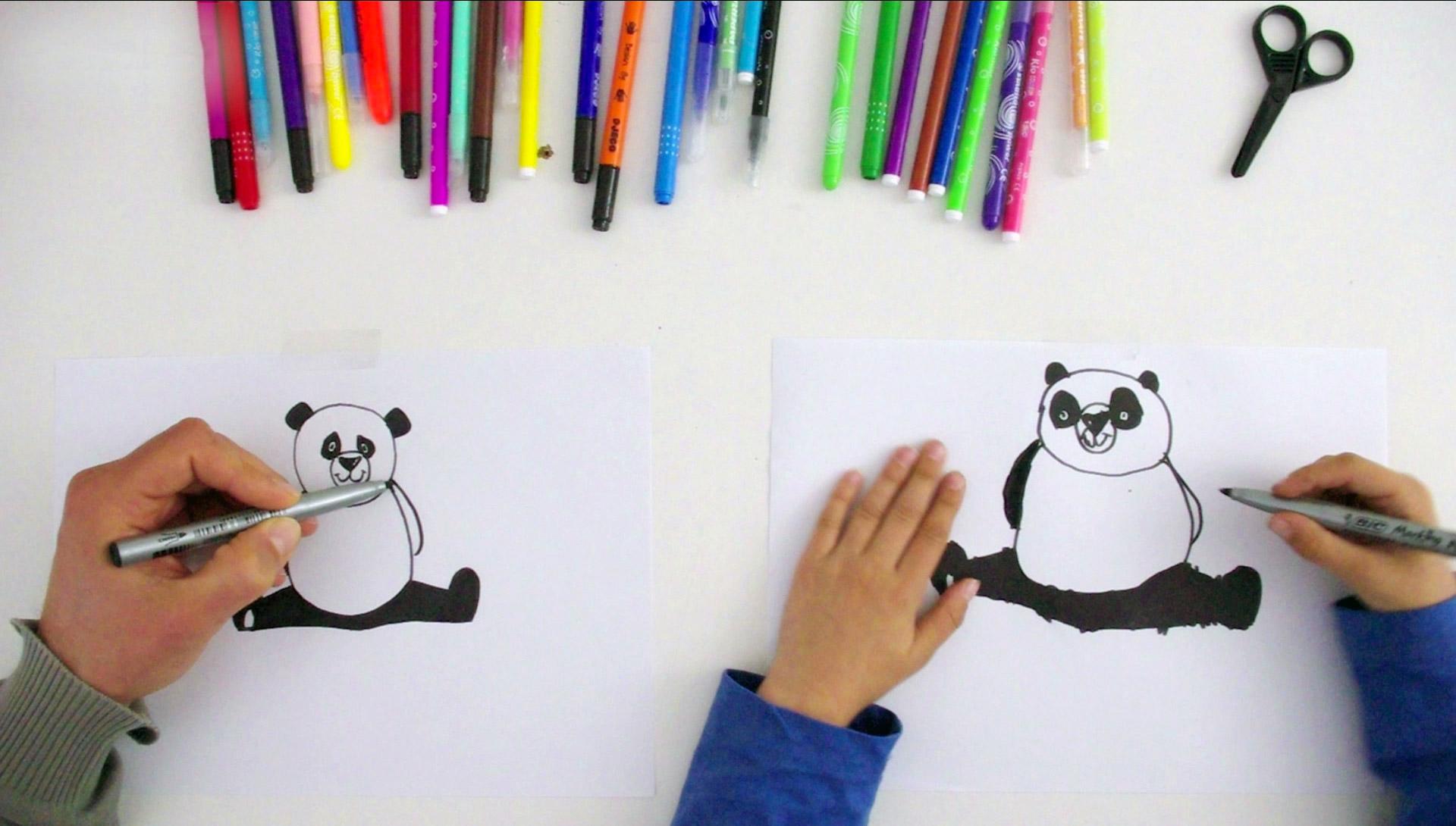 Activités De Français Pour Les Enfants Dessiner Un Panda