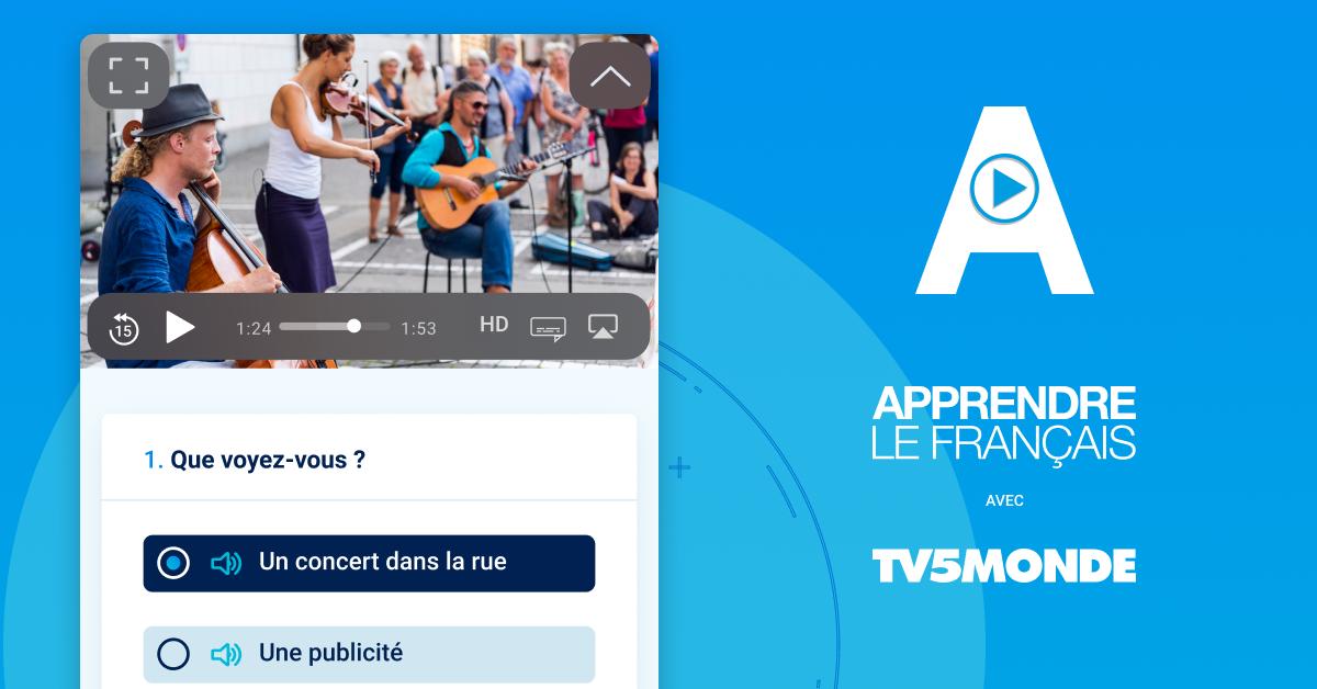 L'application TV5MONDE pour apprendre le français