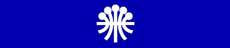 Logo de l'Agence de coopération culturelle et technique (ACCT), ancêtre de l'Organisation internationale de la Francophonie (OIF)