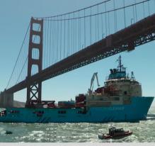Le bateau qui nettoie l'océan Pacifique