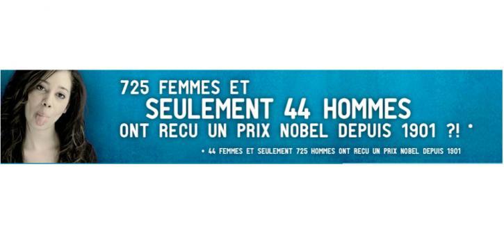 725 femmes et seulement 44 hommes ont reçu un prix Nobel depuis 1901 ?!