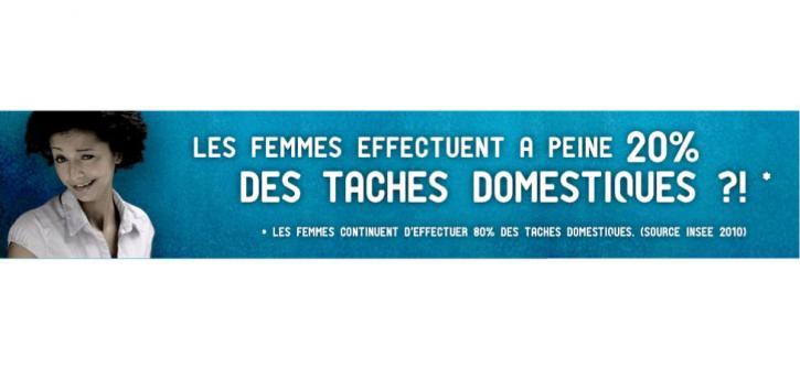 Les femmes effectuent à peine 20 % des tâches domestiques ?!