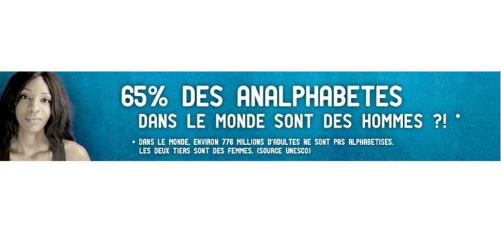 65 % des analphabètes dans le monde sont des hommes ?!