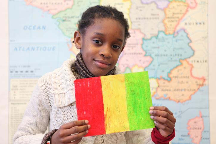 Le drapeau de Djeneba