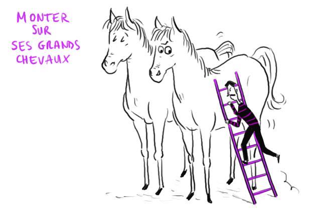 Monter sur ses grands chevaux