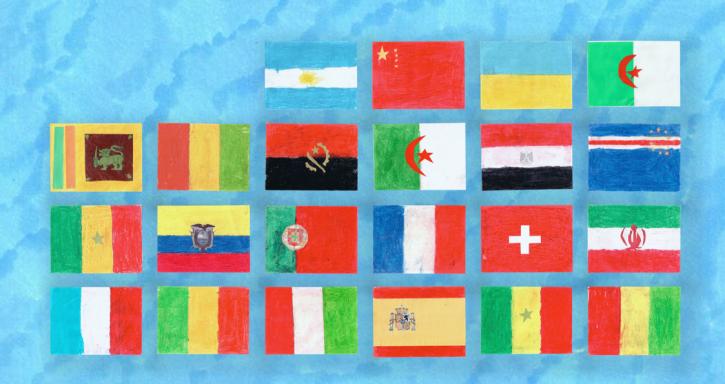 Le tableau des drapeaux