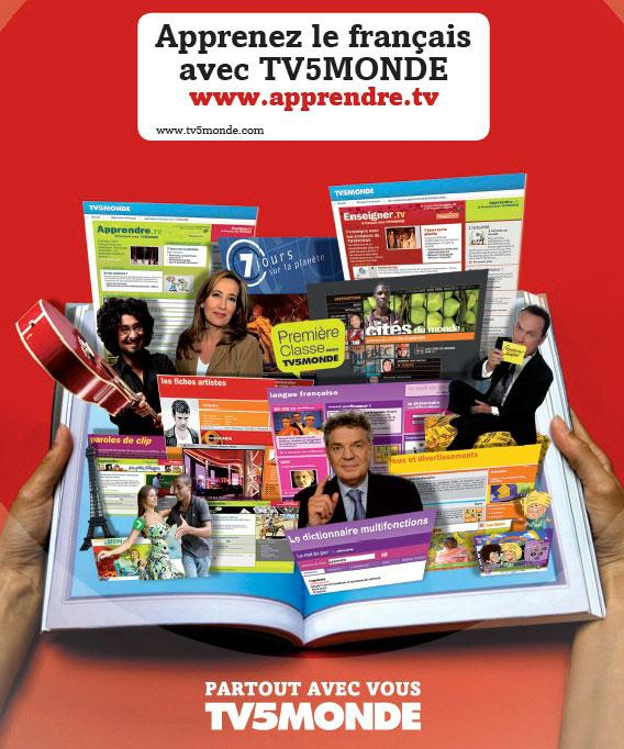 L'affiche - Apprendre.TV rouge - 2011