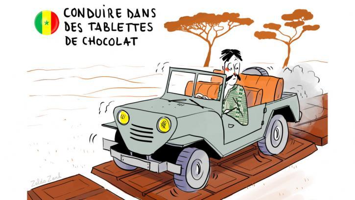 Conduire dans des tablettes de chocolat