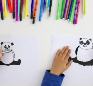 Les tutos de Léo : dessiner un panda